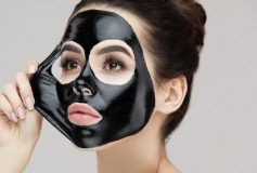 Activated charcoal mask patch for blackheads